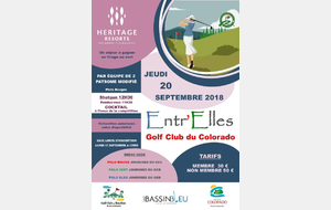 ENTR'ELLES 2018 AU GOLF CLUB DU COLORADO LES DEPARTS DU 20/09