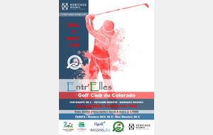 ENTR'ELLES JEUDI 12 MARS 2020 AU GOLF CLUB DU COLORADO